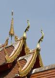 Tempio tailandese del tetto Fotografie Stock