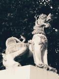 Tempio tailandese Lion Sculpture Immagine Stock