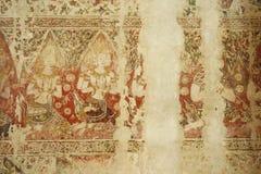Tempio tailandese sulla parete immagine stock