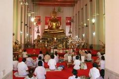 Tempio in Tailandia (dell'interno) Immagine Stock Libera da Diritti
