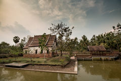 Tempio in Tailandia, Korat Fotografia Stock