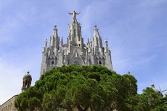 Tempio Tibidabo, Barcellona Fotografia Stock Libera da Diritti