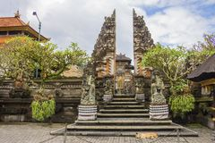 Tempio in Ubud, Bali, Indonesia fotografie stock