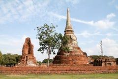 Tempio in vecchia città di Ayutthaya immagini stock libere da diritti