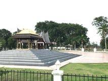 Tempio vecchio malese in Seri Menanti fotografie stock