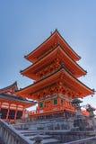 Tempio vicino di Kiyomizu-dera del tempio di Taisan-ji Immagini Stock Libere da Diritti