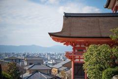 Tempio vicino di Kiyomizu-dera del tempio di Taisan-ji Immagini Stock