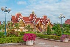 Tempio. Vientiane. Laotiani Immagine Stock