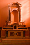 Tempio Votivo di Cristo Beträffande (den Votive templet av Kristus konungen) - Messina, Sicilien, Italien Royaltyfria Bilder