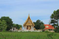 Tempio a Wat Khumkaeo Immagine Stock