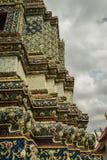 Tempio Wat Pho Old History, Tailandia fotografie stock