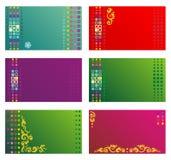 templ бирок приглашений подарка etc визитных карточек Стоковое Изображение RF
