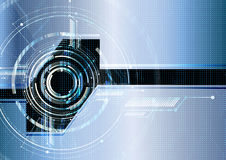Templ futurista tecnológico abstracto del vector del circuito de interfaz Imagen de archivo