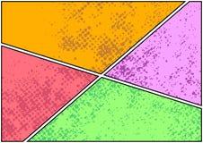 Templa luminoso del cambiamento e di facile impiego di colore del libro di fumetti della pagina della striscia illustrazione vettoriale