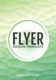 Templa poligonale di vettore di progettazione dell'aletta di filatoio dell'opuscolo della menta moderna pastello Illustrazione Vettoriale