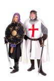 Templar和穆斯林 图库摄影