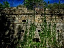 Templar城堡在萨瓦格萨附近的格劳斯在西班牙 库存图片