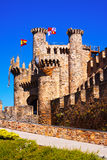 Templar Castle, built in the 12th century. Ponferrada Royalty Free Stock Image