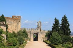 Templar Castle. The entrance gate of the castle of the Knights Templar royalty free stock photos