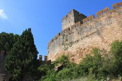 Templar Castle. The medieval castle of the Knights Templar royalty free stock photos