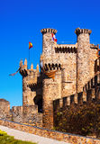 Templar Castle in Ponferrada Stock Image