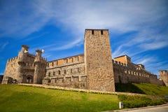 Templar castle of Ponferrada, panoramic Royalty Free Stock Photo