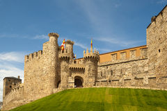 Templar castle of Ponferrada,  Spain Royalty Free Stock Photography