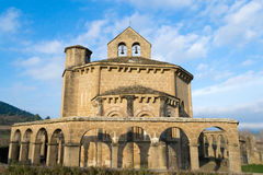 Templar church. 12th century Romanesque church located in the North of Spain which origin remains controversial Royalty Free Stock Photo