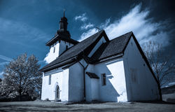 Templar church at village Martincek, Slovakia Stock Images