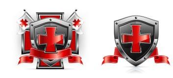 Templar emblem stock illustrationer