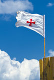 Templar flag Royalty Free Stock Photography