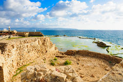 Templar Fortress in Acre Stock Images