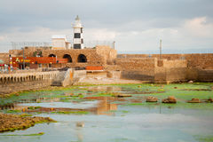 Templar Fortress in Acre Stock Photos