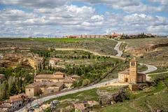 Templar Iglesia Vera Cruz in Segovia, Spanje Royalty-vrije Stock Foto's