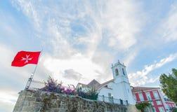 Templar-Kirche in Alfama, Lissabon, Portugal Lizenzfreie Stockbilder