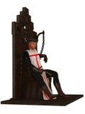 Templar König auf Thron Lizenzfreies Stockfoto