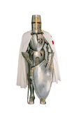 Templar knight. Isolated over a white background Royalty Free Stock Images
