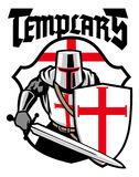 Templar knight mascot Royalty Free Stock Photography
