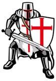 Templar knight stock illustration