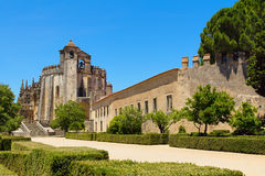 Templar knights castle of Tomar in Portugal Stock Images