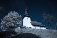 Templar kyrka på byn Martincek, Slovakien Arkivfoto