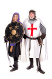 Templar and Muslim Stock Photography