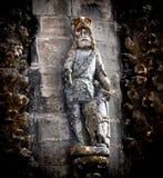 Templar riddaredetalj av kloster av Kristus fotografering för bildbyråer