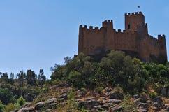 Templar slott av Almourol i Tomar Royaltyfria Bilder