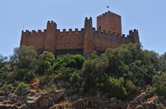 Templar slott av Almourol i Tomar fotografering för bildbyråer