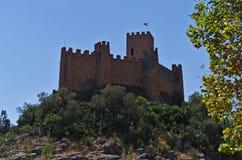 Templar slott av Almourol i Tomar royaltyfri fotografi