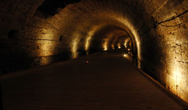 Templar tunnel at Acre -famous landmark,Israel Stock Photo