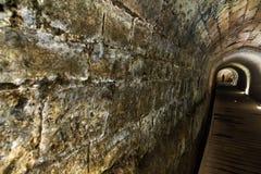 Templar tunnel i Acco Arkivfoton