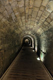 Templar Tunnel in Acco. The Templar tunnel in the old town of Acco, Israel. The Templar tunnel is an underground tunnel residing beneat the town's streets. The Stock Photos