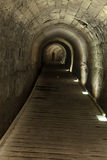 Templar Tunnel in Acco. The Templar tunnel in the old town of Acco, Israel. The Templar tunnel is an underground tunnel residing beneat the town's streets. The Stock Image
